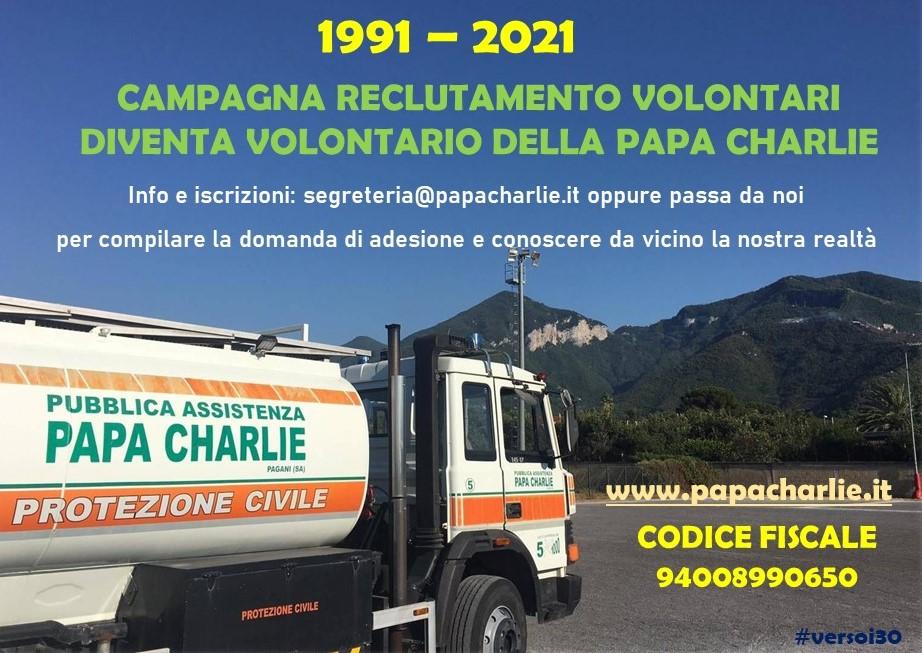 reclutamento-volontari-papa-charlie